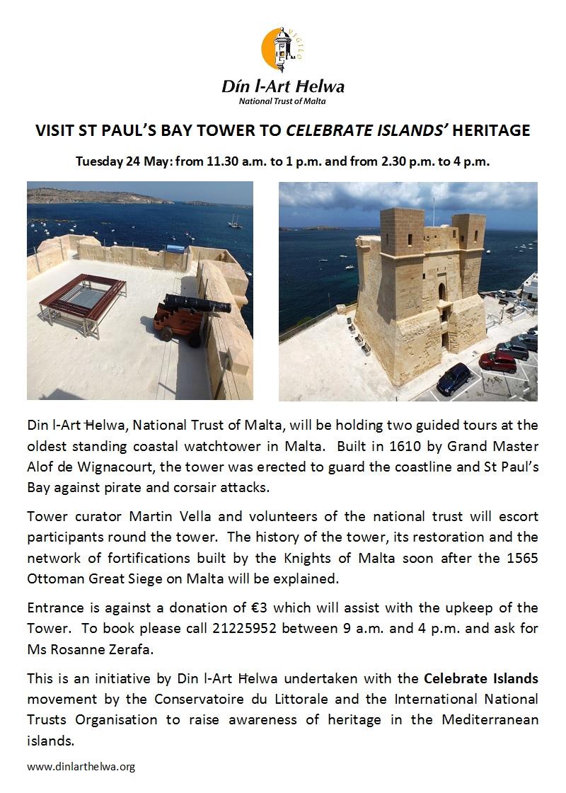 Découverte de la Tour Wignacourt à Malte 262