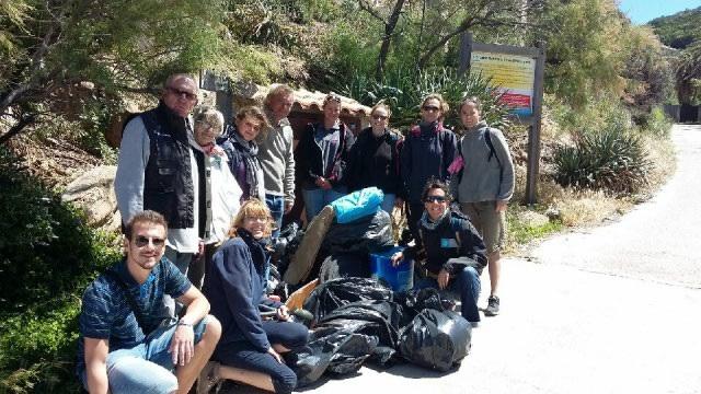 Journée de ramassage des déchets sur le Levant 280