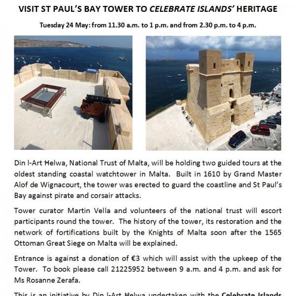 Découverte de la Tour Wignacourt à Malte