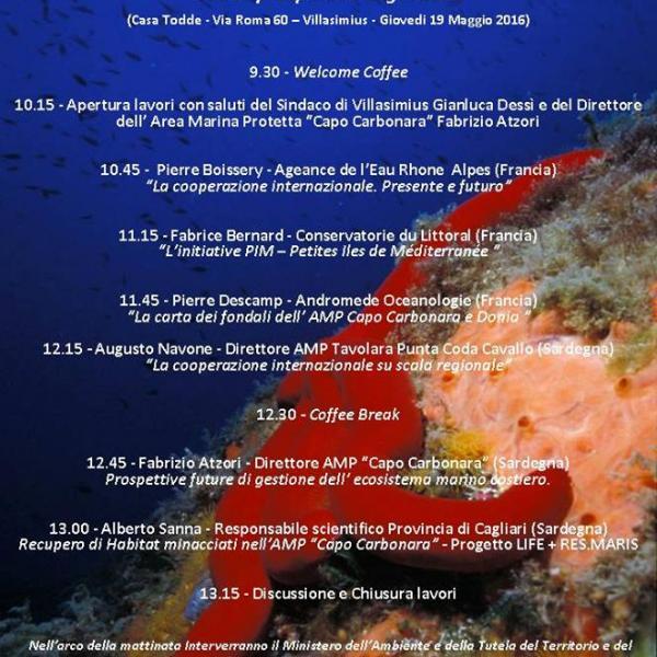 Restitution de la cartographie sous-marine de l'Aire Marine Protégée de Capo Carbonara